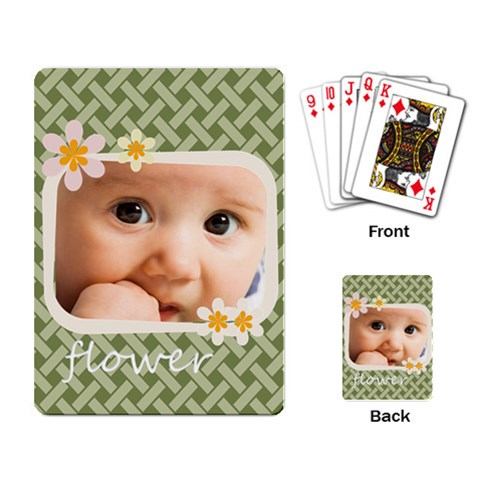 Flower By Joely   Playing Cards Single Design   Z5xnza1myv3l   Www Artscow Com Back