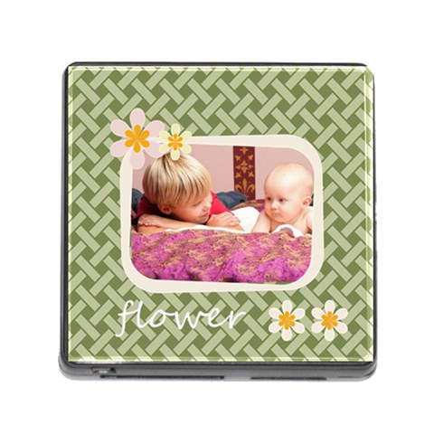 Flower By Joely   Memory Card Reader (square)   Hlrhcw7biw86   Www Artscow Com Front
