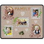 Family Lace Medium Fleece Blanket - Fleece Blanket (Medium)