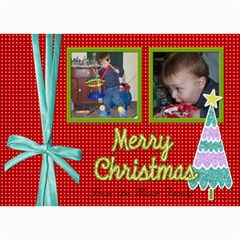Christmas Card With Ribbon By Martha Meier   5  X 7  Photo Cards   Uzwysozc1b7o   Www Artscow Com 7 x5 Photo Card - 7