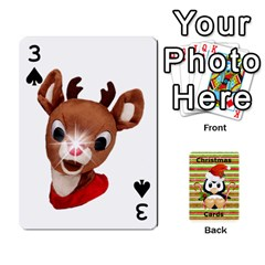 Christmas Cards Stocking Stuffer By Laurrie   Playing Cards 54 Designs   Acoe43j1wu61   Www Artscow Com Front - Spade3