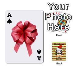 Ace Christmas Cards Stocking Stuffer By Laurrie   Playing Cards 54 Designs   Acoe43j1wu61   Www Artscow Com Front - SpadeA