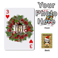 Christmas Cards Stocking Stuffer By Laurrie   Playing Cards 54 Designs   Acoe43j1wu61   Www Artscow Com Front - Heart3
