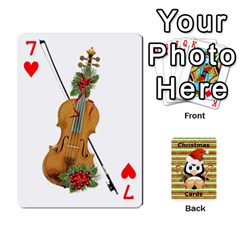 Christmas Cards Stocking Stuffer By Laurrie   Playing Cards 54 Designs   Acoe43j1wu61   Www Artscow Com Front - Heart7