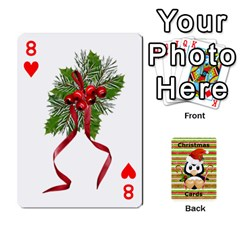 Christmas Cards Stocking Stuffer By Laurrie   Playing Cards 54 Designs   Acoe43j1wu61   Www Artscow Com Front - Heart8