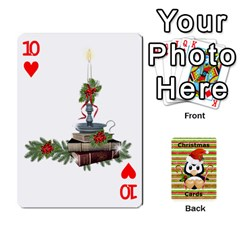 Christmas Cards Stocking Stuffer By Laurrie   Playing Cards 54 Designs   Acoe43j1wu61   Www Artscow Com Front - Heart10