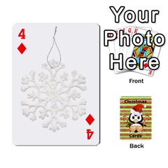 Christmas Cards Stocking Stuffer By Laurrie   Playing Cards 54 Designs   Acoe43j1wu61   Www Artscow Com Front - Diamond4