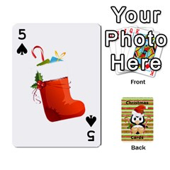 Christmas Cards Stocking Stuffer By Laurrie   Playing Cards 54 Designs   Acoe43j1wu61   Www Artscow Com Front - Spade5