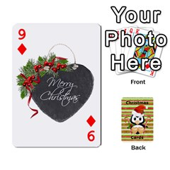 Christmas Cards Stocking Stuffer By Laurrie   Playing Cards 54 Designs   Acoe43j1wu61   Www Artscow Com Front - Diamond9