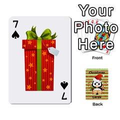 Christmas Cards Stocking Stuffer By Laurrie   Playing Cards 54 Designs   Acoe43j1wu61   Www Artscow Com Front - Spade7