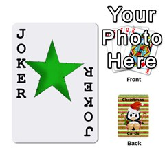 Christmas Cards Stocking Stuffer By Laurrie   Playing Cards 54 Designs   Acoe43j1wu61   Www Artscow Com Front - Joker1
