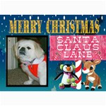 santa Claus Lane Christmas Card - 5  x 7  Photo Cards