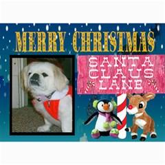 Santa Claus Lane Christmas Card By Kim Blair   5  X 7  Photo Cards   Ollw6limndgx   Www Artscow Com 7 x5 Photo Card - 9