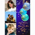 Blue Bauble Photo card 5x7 - 5  x 7  Photo Cards