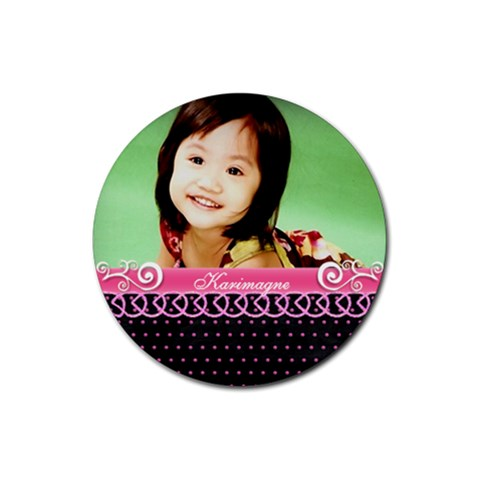 Little Lady   Coaster 1 By Angel   Rubber Coaster (round)   Plkc7bruoz6y   Www Artscow Com Front