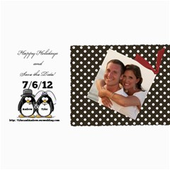 Pengin Save The Date By Tyler Davis   4  X 8  Photo Cards   Ap14au3ob045   Www Artscow Com 8 x4 Photo Card - 1