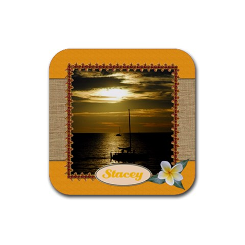 Tropical Vacation Coaster 5 By Mum2 3boys   Rubber Coaster (square)   Lvm06wsmome8   Www Artscow Com Front
