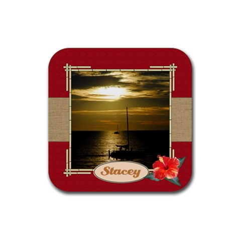 Tropical Vacation Coaster 4 By Mum2 3boys   Rubber Coaster (square)   6f0agb2g2oaz   Www Artscow Com Front