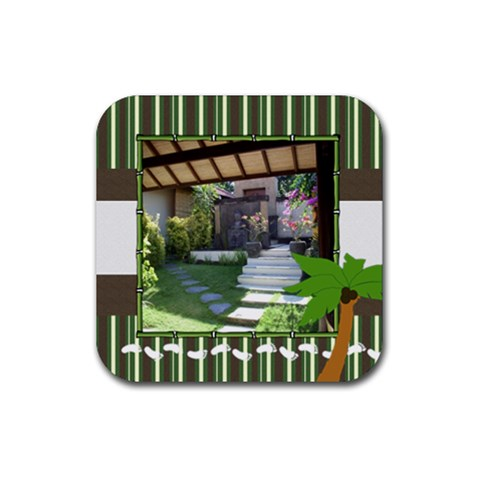 Tropical Vacation Coaster 2 By Mum2 3boys   Rubber Coaster (square)   Yr1aem1p5id2   Www Artscow Com Front