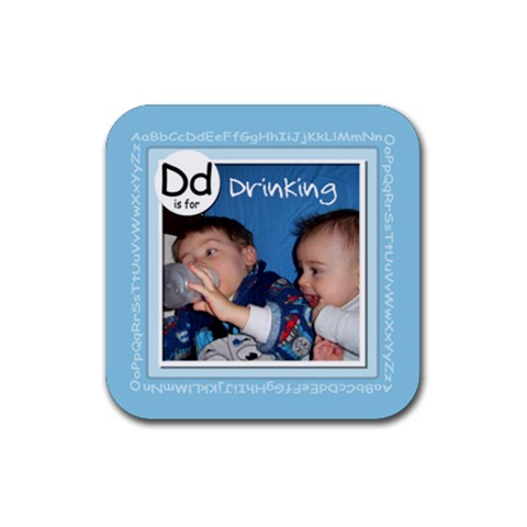 Baby Drink Coaster Abc By Mum2 3boys   Rubber Coaster (square)   D58lx1bn4rr2   Www Artscow Com Front