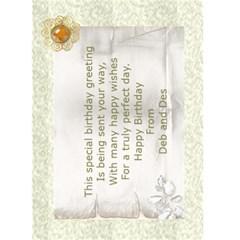 Birthday (any Occasion) Card (5x7) 3 By Deborah   Greeting Card 5  X 7    1tqkdbxkccal   Www Artscow Com Back Inside
