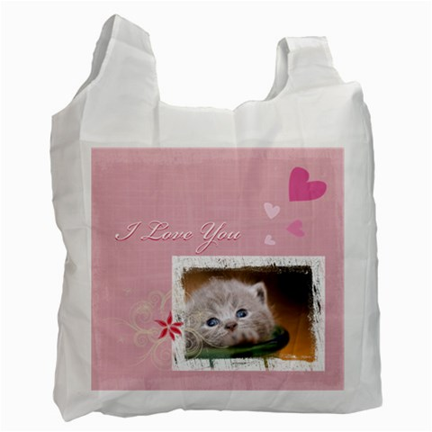 Love Pet By Joely   Recycle Bag (one Side)   Kqf5egueregh   Www Artscow Com Front