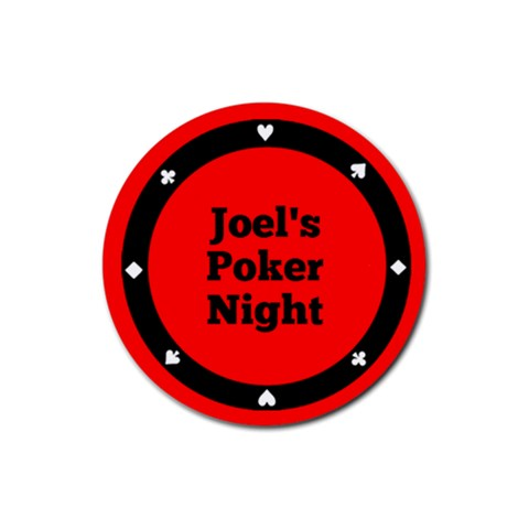 Poker Night Coaster   Roulette By Mum2 3boys   Rubber Coaster (round)   Rvjh8lqwd8yb   Www Artscow Com Front