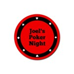 Poker night Coaster - Roulette - Rubber Coaster (Round)