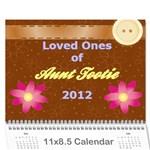 Tootie Calendar 2012 - Wall Calendar 11  x 8.5  (12-Months)