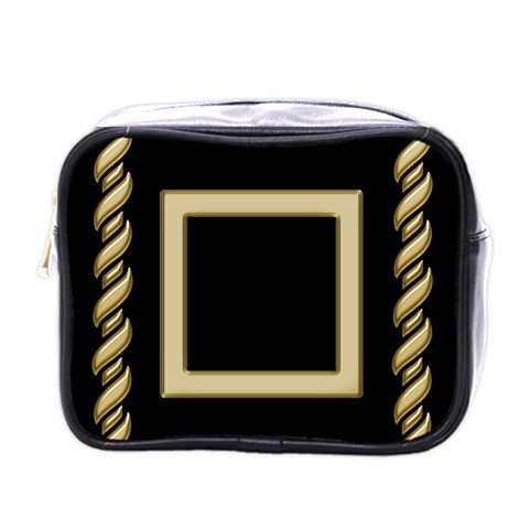 Black And Gold Mini Toiletries Bag By Deborah   Mini Toiletries Bag (one Side)   U2r6auxvzrqc   Www Artscow Com Front