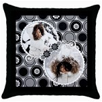 throw pillow - a - Throw Pillow Case (Black)