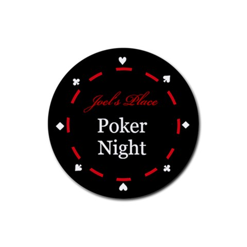 Poker Night Coaster By Mum2 3boys   Rubber Coaster (round)   I6u93kd9blzl   Www Artscow Com Front