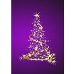 Merry Christmas In Purple 5x7 Card By Deborah   Greeting Card 5  X 7    872rwn51bwec   Www Artscow Com Front Inside