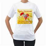 Christmas Heart Womans T-Shirt - Women s T-Shirt (White) (Two Sided)