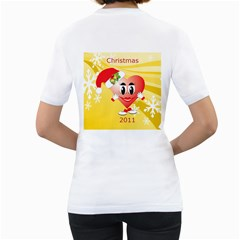 Christmas Heart Womans T Shirt By Kim Blair   Women s T Shirt (white) (two Sided)   Oci8m2pwymz9   Www Artscow Com Back