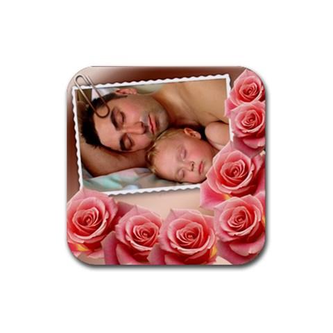 Memories Coaster By Deborah   Rubber Coaster (square)   Dsrh0wc0m60r   Www Artscow Com Front