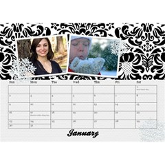Black & White With Flowers, Desktop Calendar 8 5x6 By Mikki   Desktop Calendar 8 5  X 6    4yafs4j4lzeg   Www Artscow Com Jan 2018
