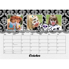 Black & White With Flowers, Desktop Calendar 8 5x6 By Mikki   Desktop Calendar 8 5  X 6    4yafs4j4lzeg   Www Artscow Com Oct 2018