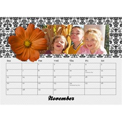 Black & White With Flowers, Desktop Calendar 8 5x6 By Mikki   Desktop Calendar 8 5  X 6    4yafs4j4lzeg   Www Artscow Com Nov 2018