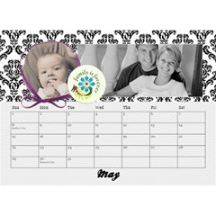 Black & White With Flowers, Desktop Calendar 8 5x6 By Mikki   Desktop Calendar 8 5  X 6    4yafs4j4lzeg   Www Artscow Com May 2018