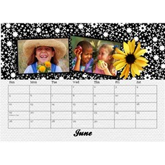 Black & White With Flowers, Desktop Calendar 8 5x6 By Mikki   Desktop Calendar 8 5  X 6    4yafs4j4lzeg   Www Artscow Com Jun 2018