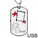 Garabatos Tag USB 2 sides - Dog Tag USB Flash (Two Sides)