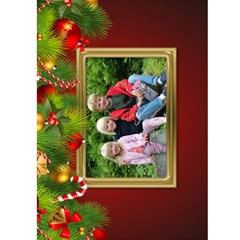 Merry Christmas Card (5x7) By Deborah   Greeting Card 5  X 7    Laonfvfwch91   Www Artscow Com Front Inside