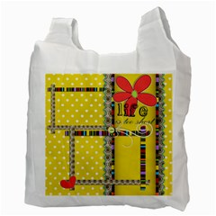 Recycle Bag   2 Sides   Genuine Love By Angel   Recycle Bag (two Side)   Uj8oq7antedr   Www Artscow Com Back