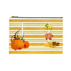 Give Thanks Cosmetic Bag (l) By Elena Petrova   Cosmetic Bag (large)   Scnsw6x20j6o   Www Artscow Com Front