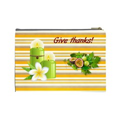 Give Thanks Cosmetic Bag (l) By Elena Petrova   Cosmetic Bag (large)   Scnsw6x20j6o   Www Artscow Com Back