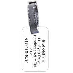 Stefluggage By Sandra Oldham   Luggage Tag (two Sides)   La4ptc28e7d6   Www Artscow Com Back