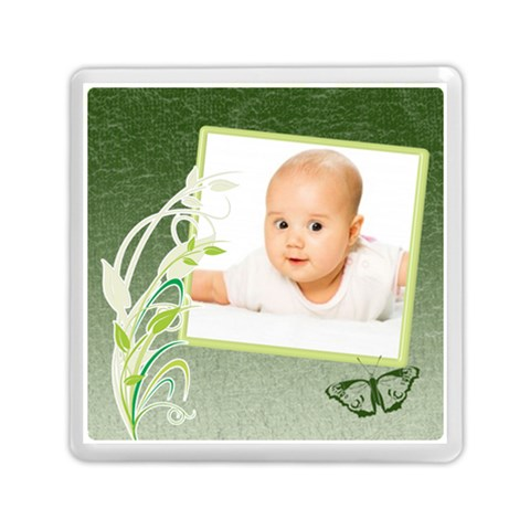 Baby Green By Wood Johnson   Memory Card Reader (square)   Va2392gw7qpk   Www Artscow Com Front