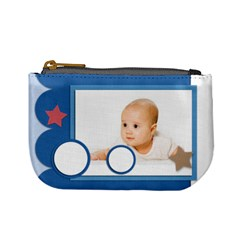 Baby Blue By Wood Johnson   Mini Coin Purse   Onhu4yt30777   Www Artscow Com Front