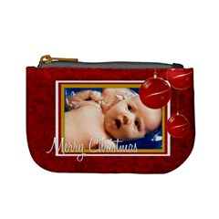Merrychristmas By Wood Johnson   Mini Coin Purse   Migybvuhnato   Www Artscow Com Front